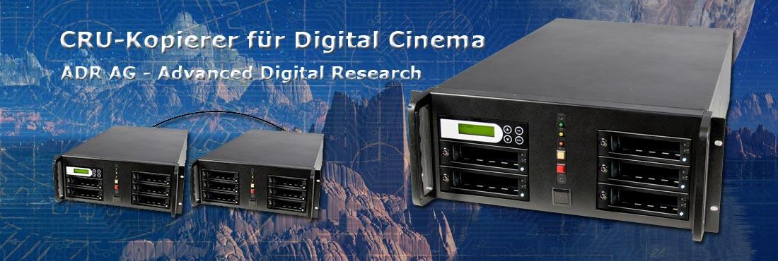 Festplatten-Kopierer für den digitalen Kinobereich